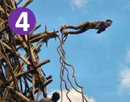 Extreme Bucket List: South Pacific Islanders who tie vines to their feet and leap off a rickety wooden scaffold. The forerunner of bungee.  No there's no safety equipment, no ambulance or hospital on the island, no play in the vines.  Wearing only a penis sheath.