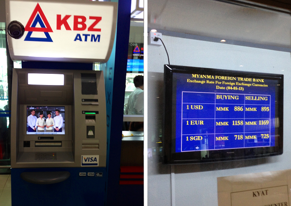ATM at Yangon Airport in Myanmar