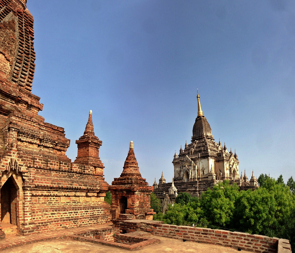 The Temple just South of Gawdawpalin gives majestic views of the towering Temple.