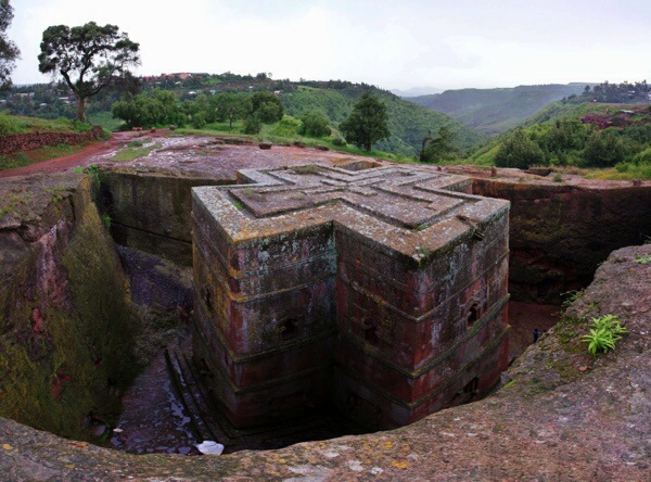 Ethiopia has some of the deepest religious traditions including this rock-hewn church at Lalibela