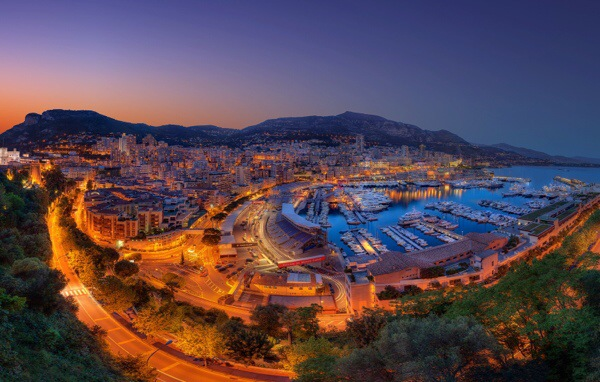 The iconic Monaco Grand Prix snakes through the streets of this Medeterranean city.