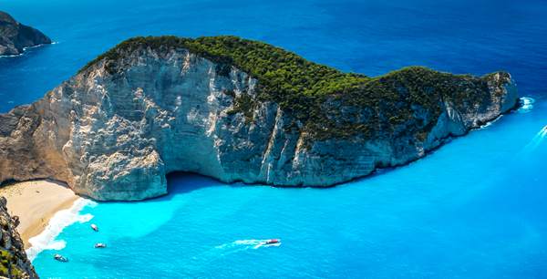 Shipwreck Bay on Zakynthos Island,  Greece (via)