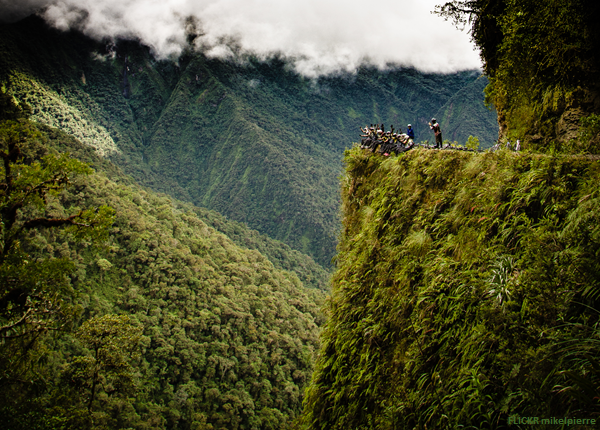 "Cycle Death Road Bolivia, North Yungas is known as ""The World's Most Dangerous Road"" (via)"