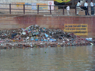 Varanasi Ganges Trash